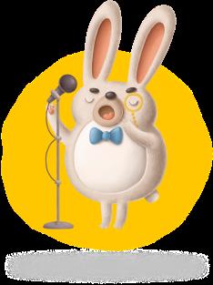 Bunny singing